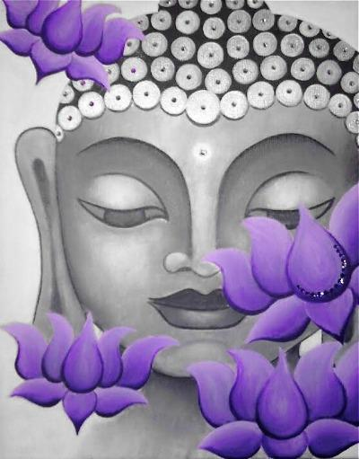 Buddha and Lotus art by Melissa Bordeaux
